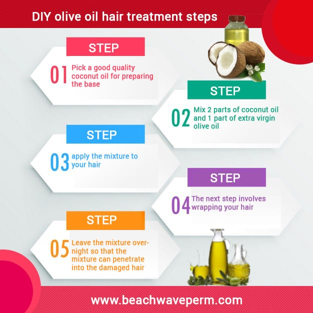 DIY olive oil hair treatment steps