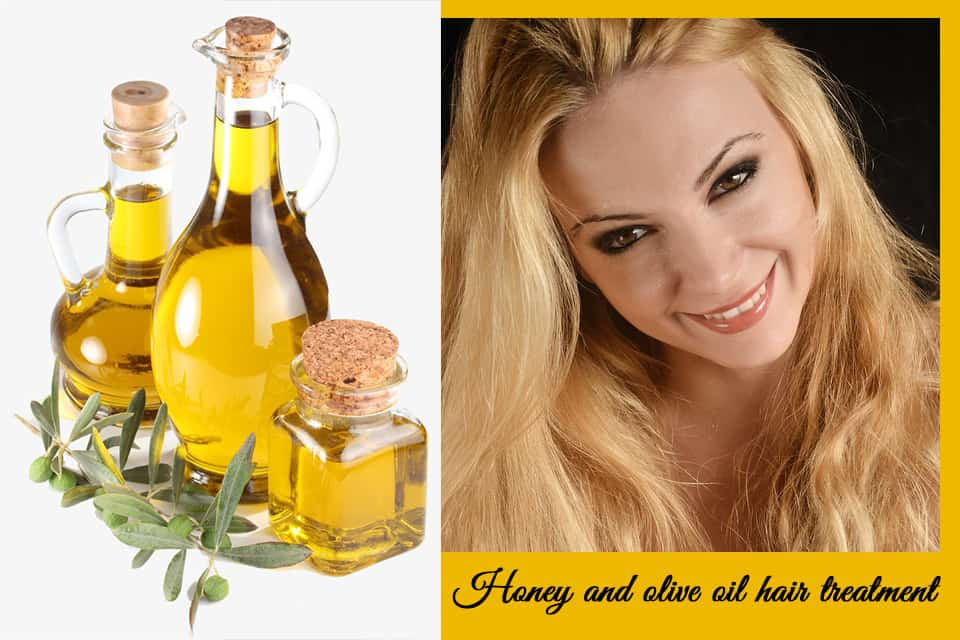 Honey and olive oil hair treatment