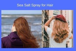 Sea salt spray for hair