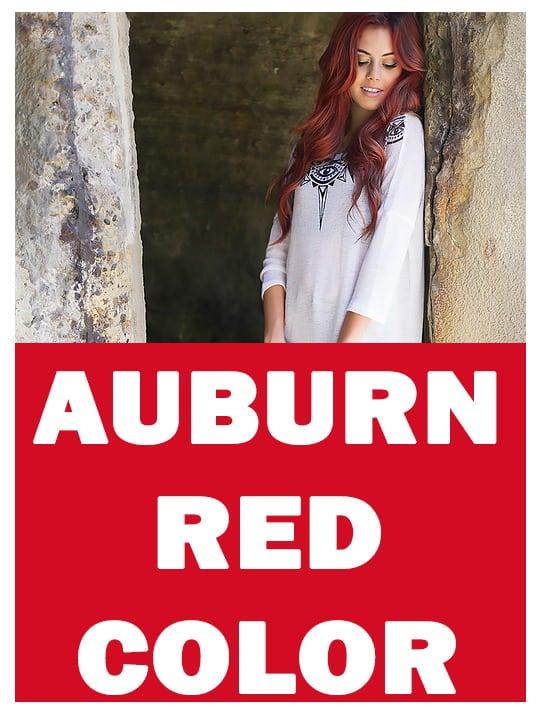 Auburn red hair