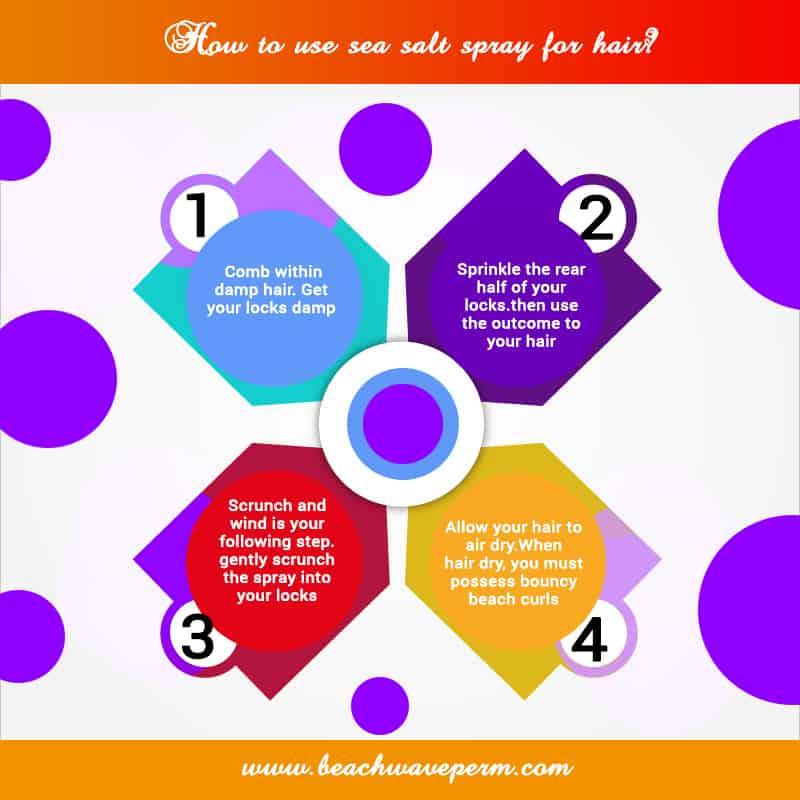 How to use sea salt spray for hair