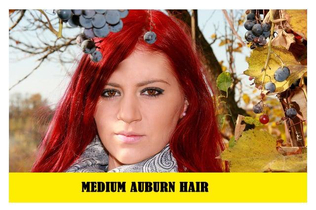 Medium Auburn hair