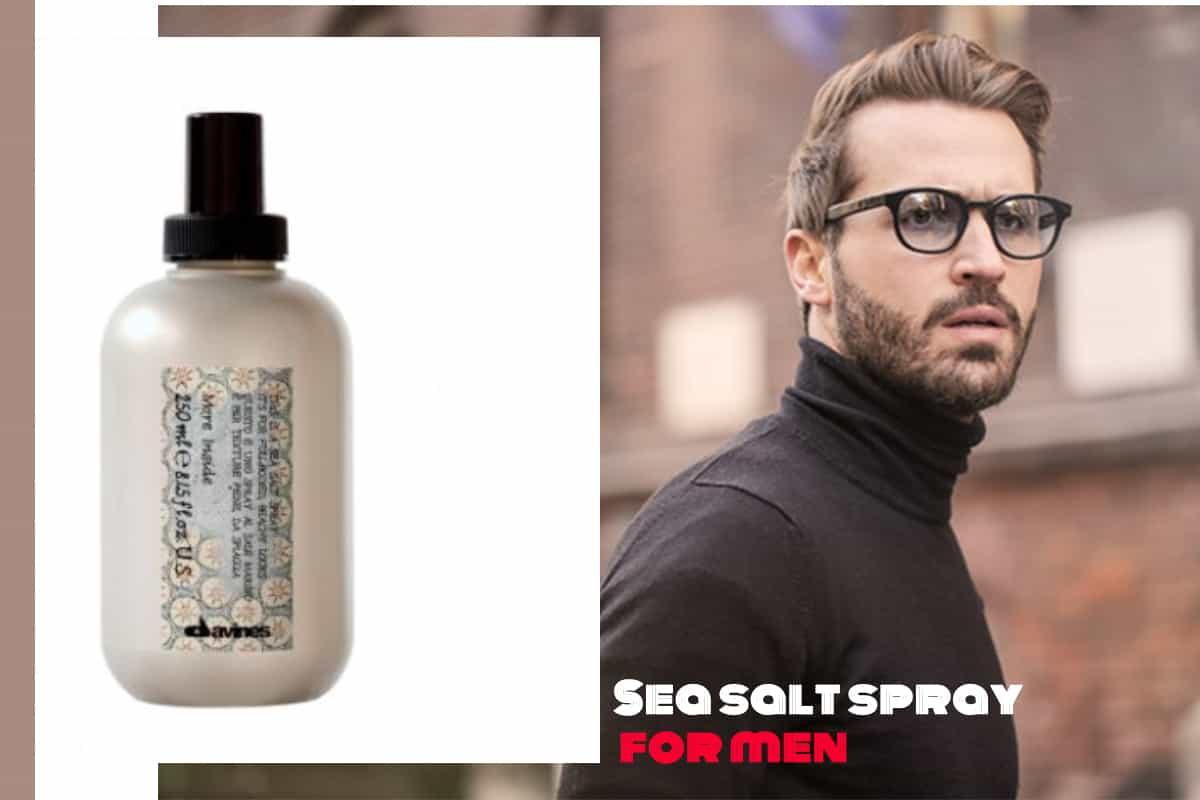 Sea salt spray for men