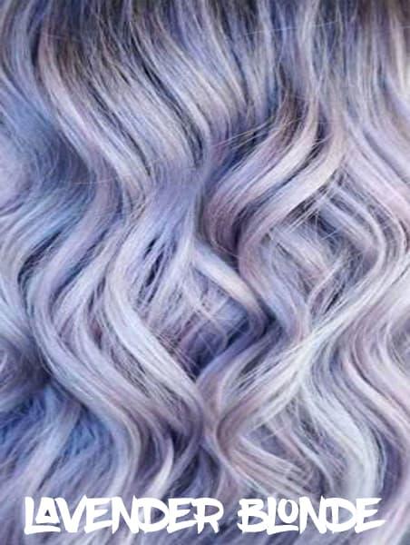 Lavender Blonde Hair