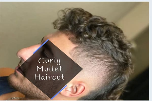Curly Mullet Haircut