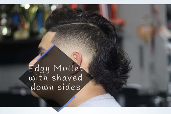 Edgy Mullet with shaved down sides