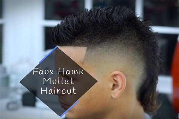 Faux Hawk Mullet Haircut