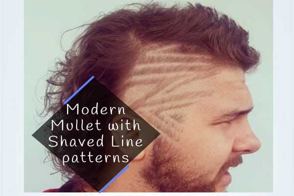 Modern Mullet with Shaved Line patterns