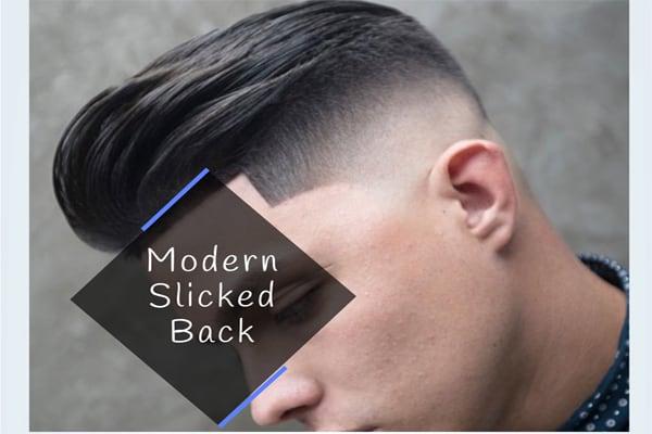 Modern Slicked Black Men_s Haircut
