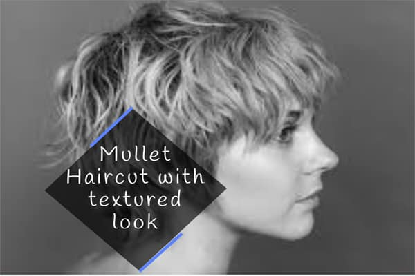 Mullet Haircut with textured look