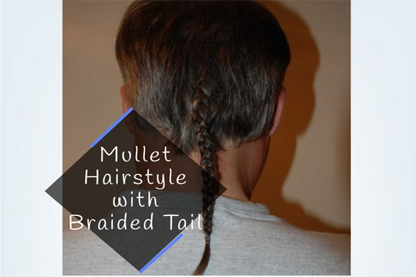 Mullet Hairstyle with Braided Tail