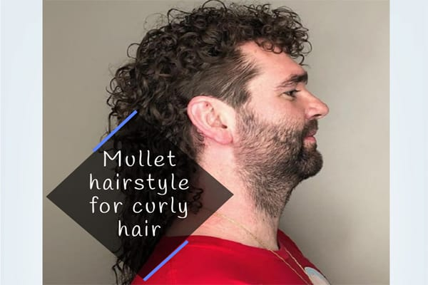 Mullet hairstyle for curly hair