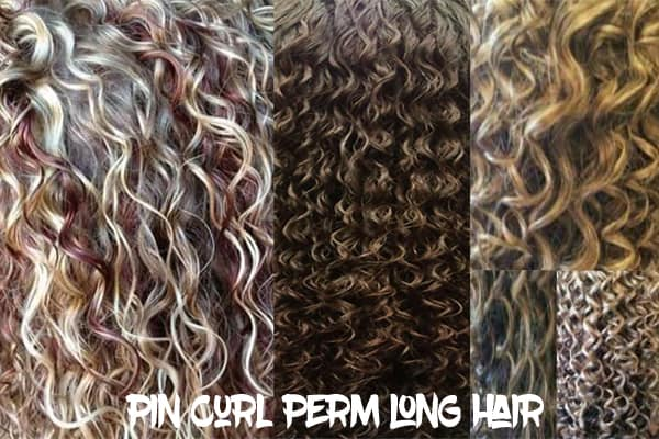 Pin Curl Perm long hair