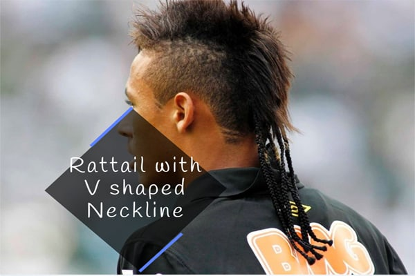 Rattail with V shaped Neckline
