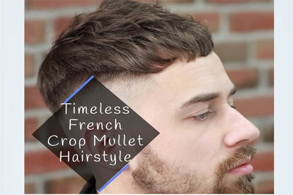 Timeless French Crop Mullet Hairstyle