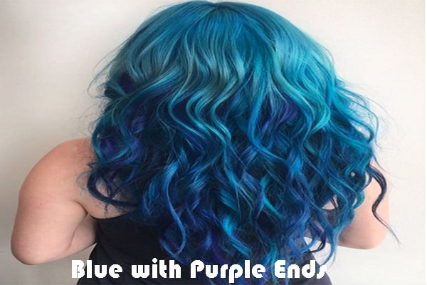 Blue with Purple Ends