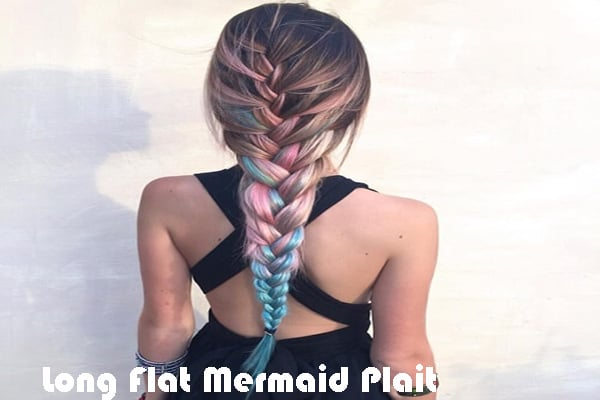 Long Flat Mermaid Plait