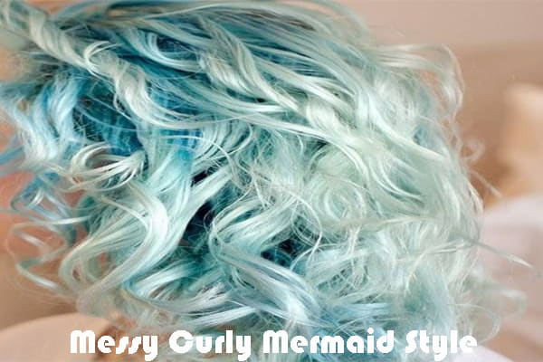 Messy Curly Mermaid Style
