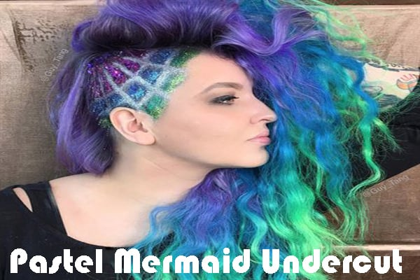Pastel Mermaid Undercut
