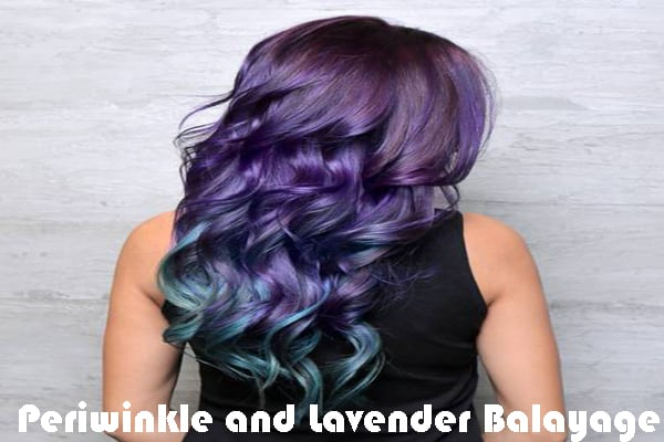 Periwinkle and Lavender Balayage