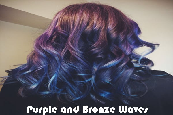 Purple and Bronze Waves