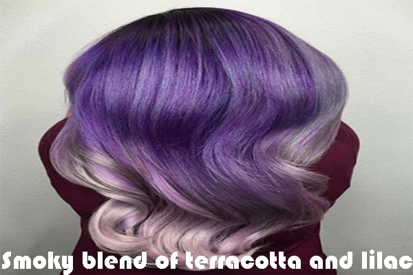 Smoky blend of terracotta and lilac