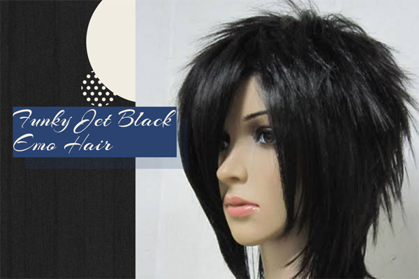 15 Funky Jet Black Emo Hair