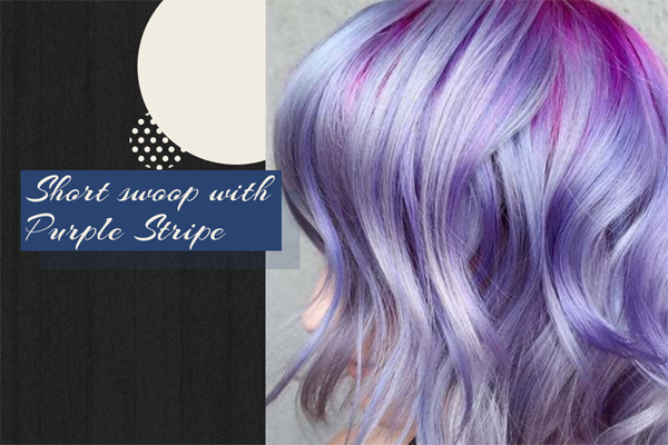 17 Short swoop with Purple Stripe
