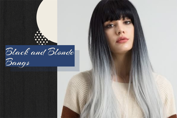 20 Black and Blonde Bangs