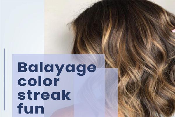 Balayage color streak fun