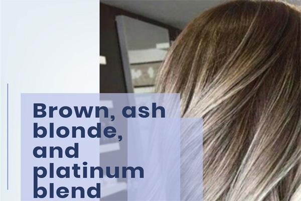 Brown, ash blonde, and platinum blend