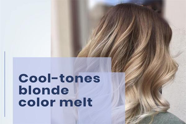 Cool-tones blonde color melt