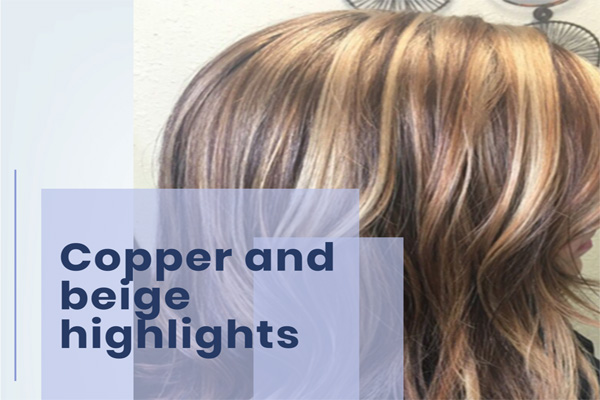Copper and beige highlights