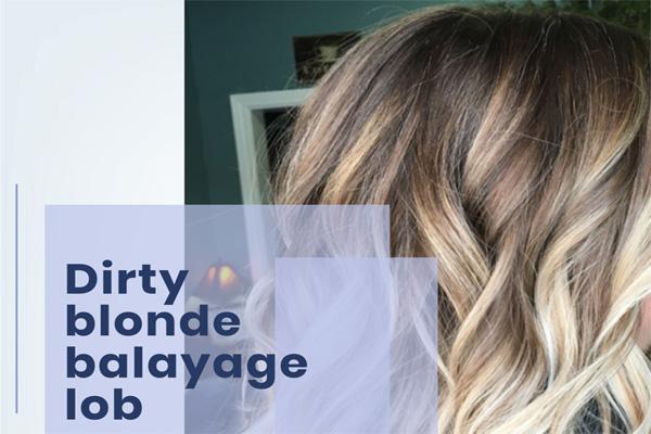 Dirty blonde balayage lob