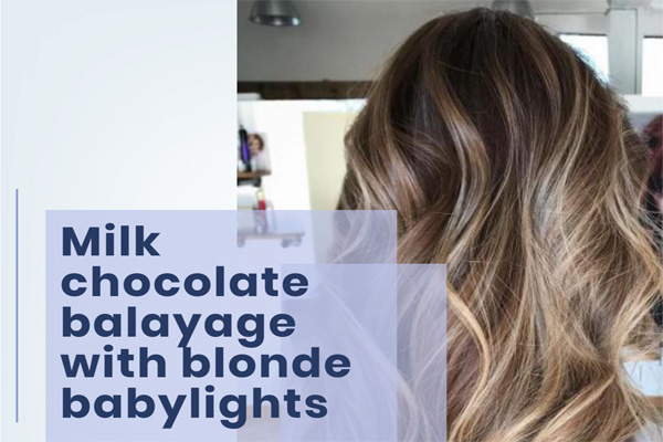 Milk chocolate balayage with blonde baby lights