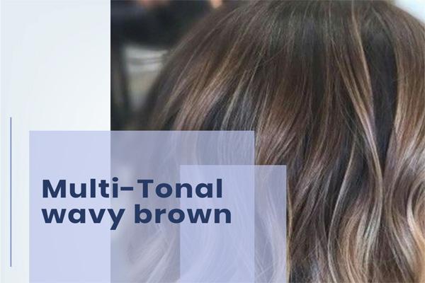 Multi-Tonal wavy brown