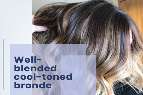 Well-blended cool-toned bronde