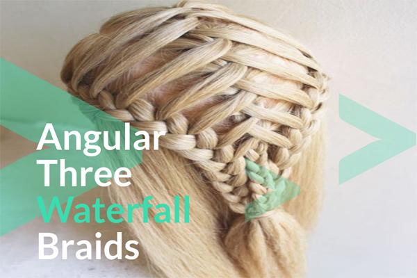 Angular Three Waterfall Braids