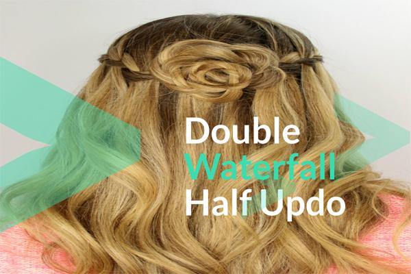 Double Waterfall Half Updo