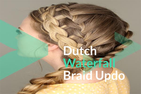 Dutch Waterfall Braid Updo