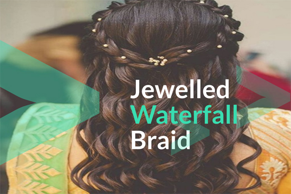 Jewelled Waterfall Braid