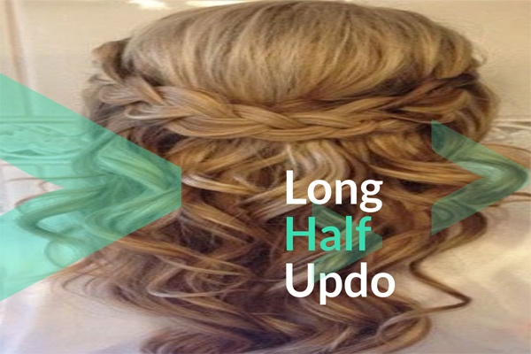 Long Half Updo