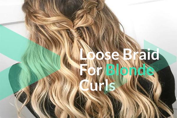 Loose Braid For Blonde Curls