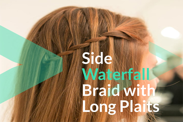 Side Waterfall Braid with Long Plaits