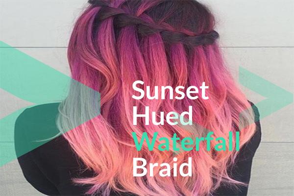 Sunset Hued Waterfall Braid