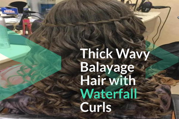 Thick Wavy Balayage Hair with Waterfall Curls