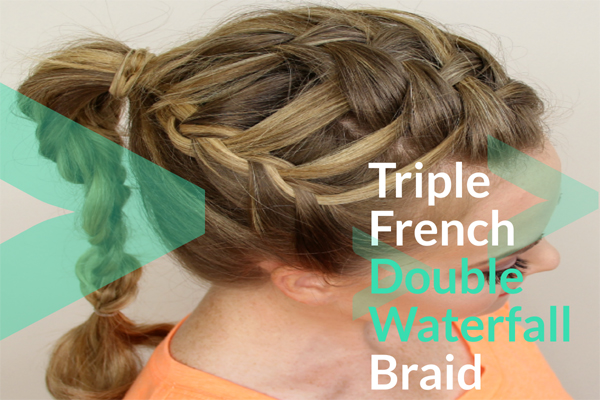 Triple French Double Waterfall Braid