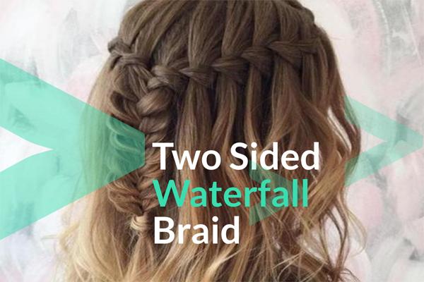 Two Sided Waterfall Braid
