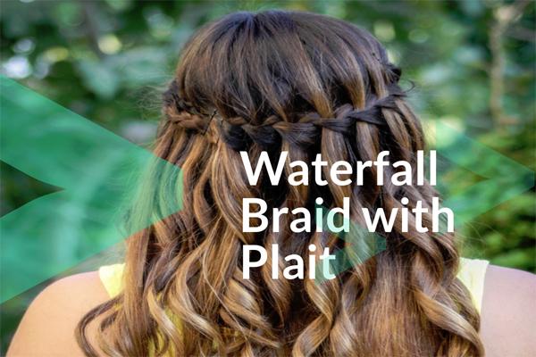 Waterfall Braid with Plait
