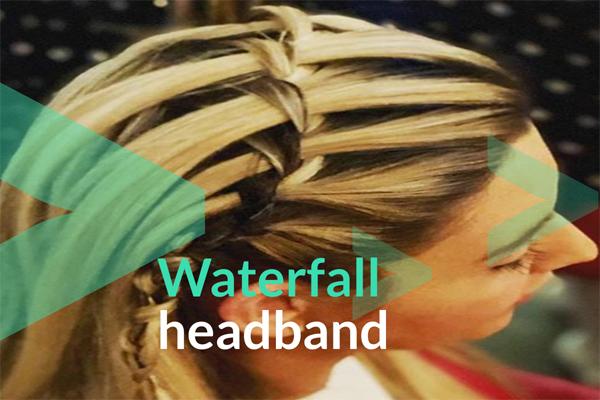 Waterfall headband